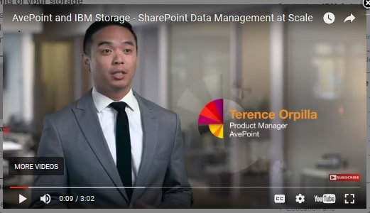 AvePoint and IBM Storage - SharePoint Data Management at Scale