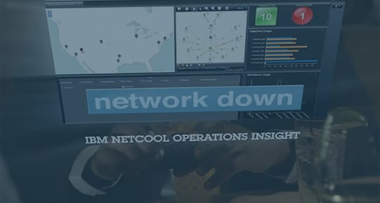 A screen capture from the IBM Netcool Operations Insight video