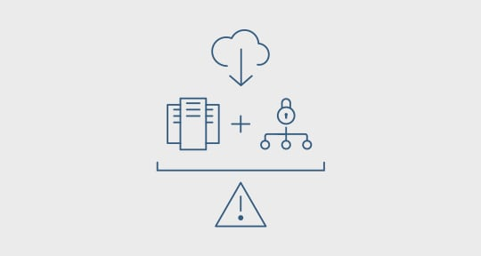 Icon for using cloud databases for disaster recovery