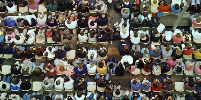 birds eye view of group of people
