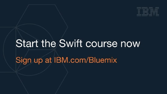 Start the Swift course now