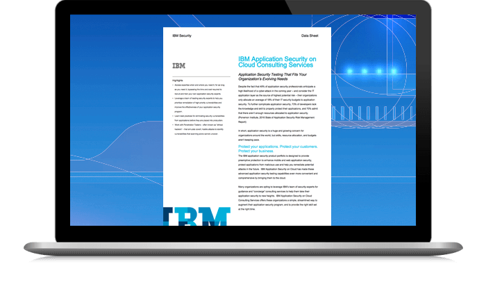 Introducing IBM Application Security on Cloud Consulting Services