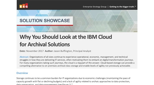 thumbnail for Why You Should Look at the IBM Cloud for Archival Solutions