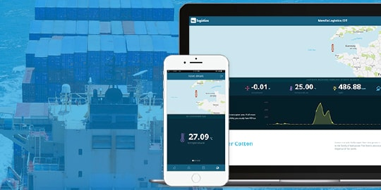 Image representing a cargo tracking app built with Mendix, Watson and blockchain