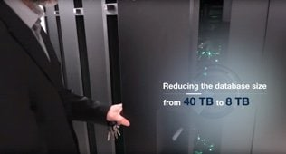 Reducing the database size from 40 TB to 8 TB.