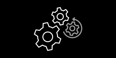 Icon of gears spinning