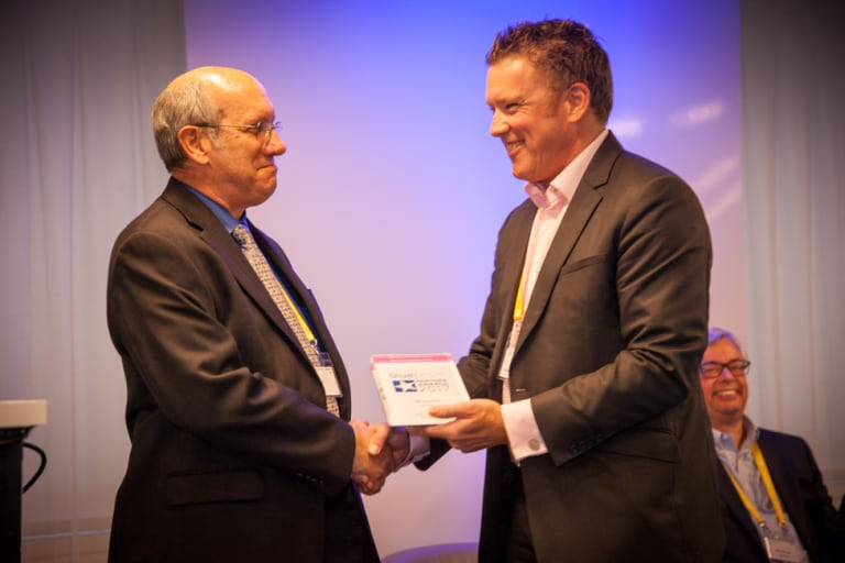 IBM's Ira Allen receives the Blue Prism Innovation Award