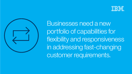 Businesses need a new portfolio of capabilities for flexibility and responsiveness in addressing fast-changing customer requirements.