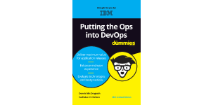 Gráfico de la cubierta del ebook Putting the Ops into DevOps For Dummies