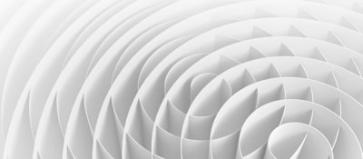 abstract of white spirals