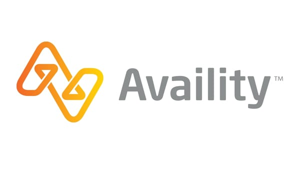 A graphic logo representing Availity LLC and a case study using IBM DataPower Gateway devices to cen