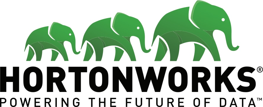 Logo of IBM's Data Lake area partner - Hortonworks