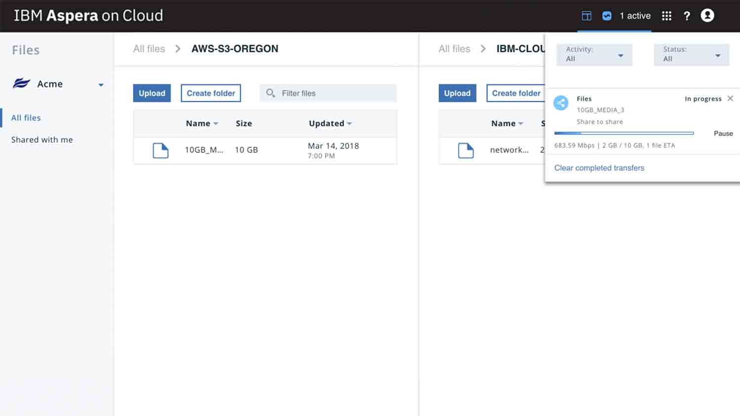 IBM Aspera – cloud file sharing