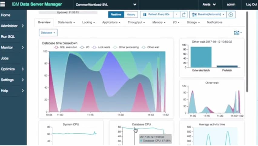 Video providing an overview of the Db2 tool, IBM Data Server Manager Hybrid Enterprise