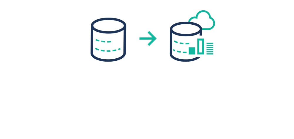 Icon representing the use of Lift for data warehousing