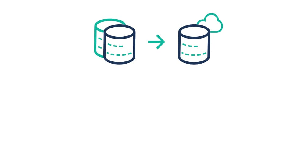 Icon representing the use of Lift for database consolidation