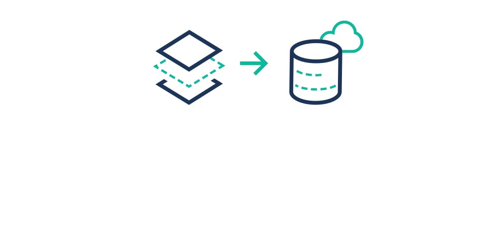 Icon representing the use of Lift for incremental data loads to a data warehouse