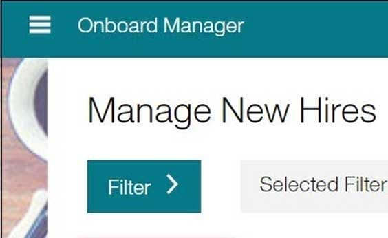 Manage new hires