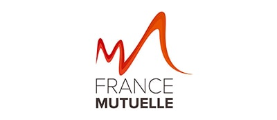 A graphic logo representing Groupe France Mutuelle and a case study using IBM Db2 to boost application performance and cut costs