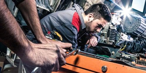 Mechanic engineer working