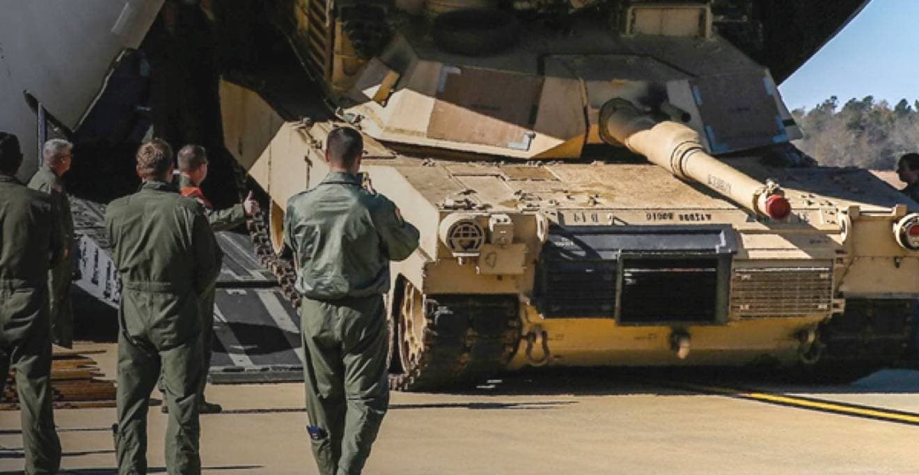 Photo of an Army tank representing the Army's use of AI on the IBM Cloud to streamline cargo delivery