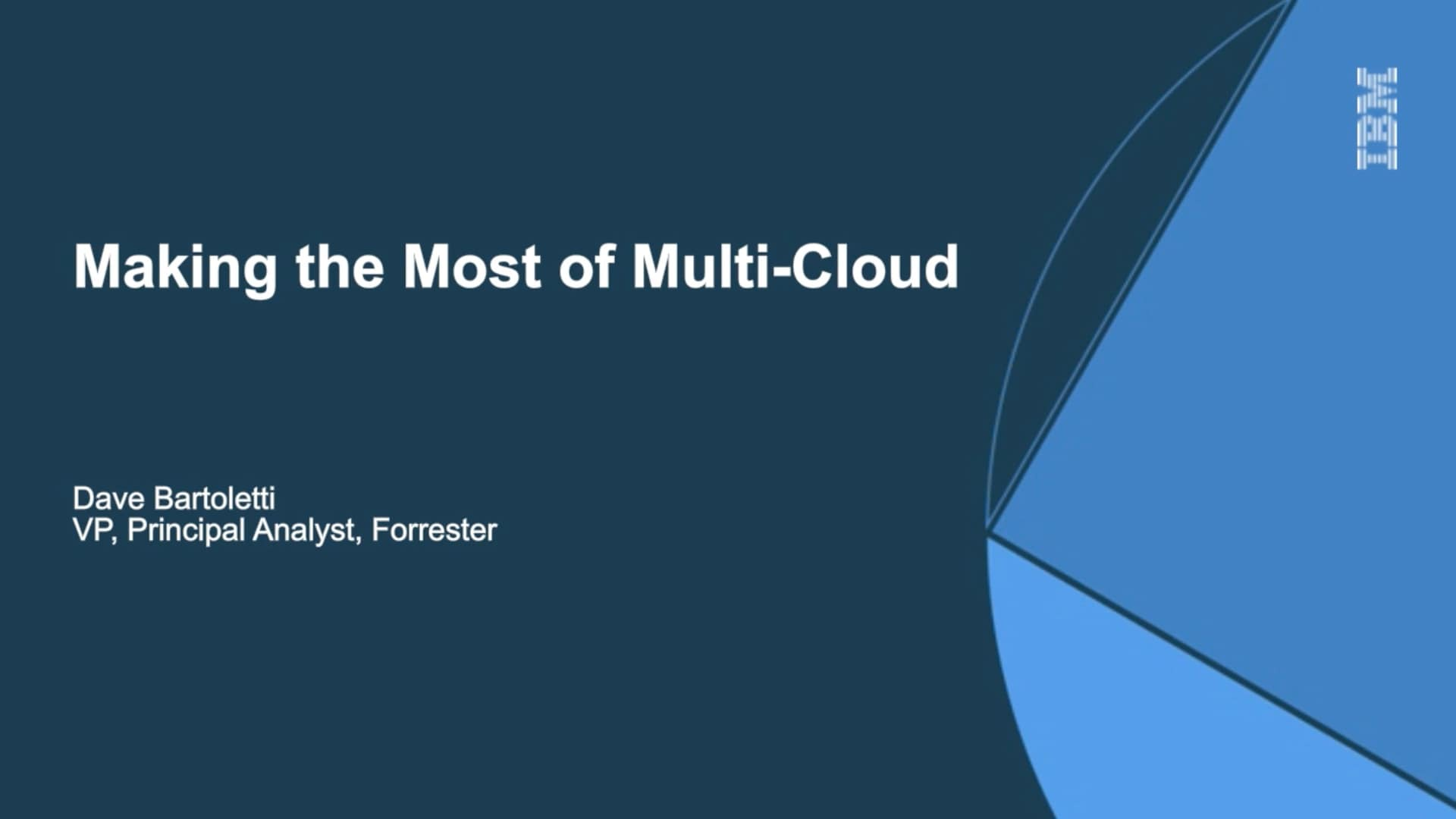 Making the Most of Multi-Cloud