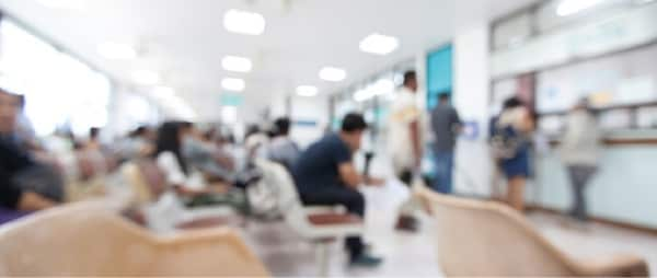 several people at a hospital