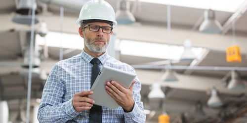 Operations executive in hardhat checking component list