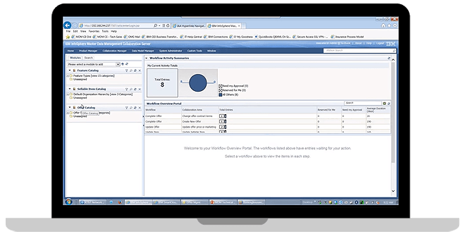 IBM InfoSphere Master Data Management Collaborative Edition screenshot
