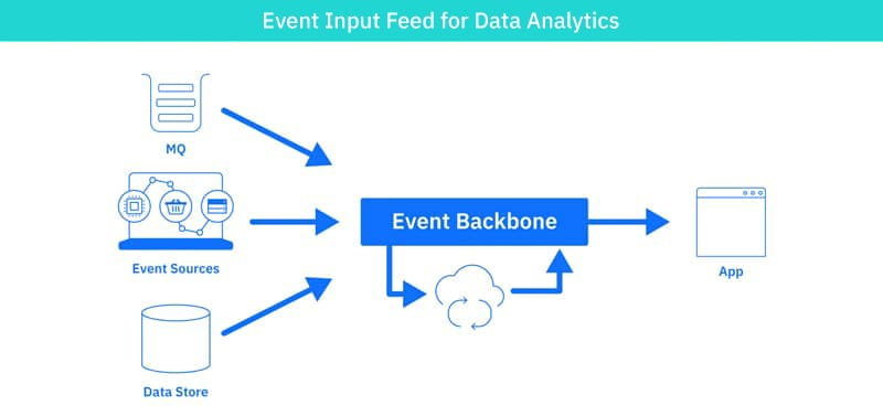 Event input feed for data analytics