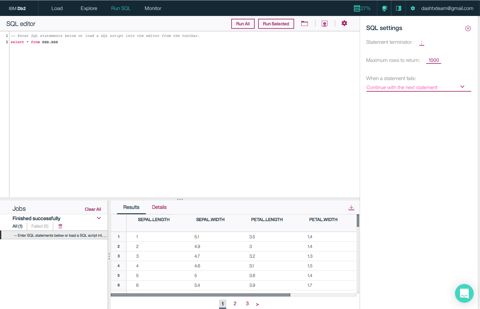screencapture of how to get started right away using the easy-to-use SQL Editor for your cloud database