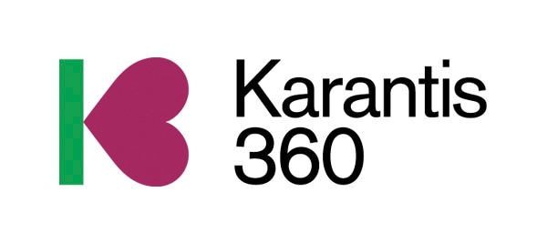 Логотип Karantis 360 для примера проекта облачных услуг и Watson IoT по уходу за престарелыми