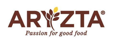 "The text ""Aryzta"" is written in red, a representation of wheat is overlaid on fthe letter ""Y"""