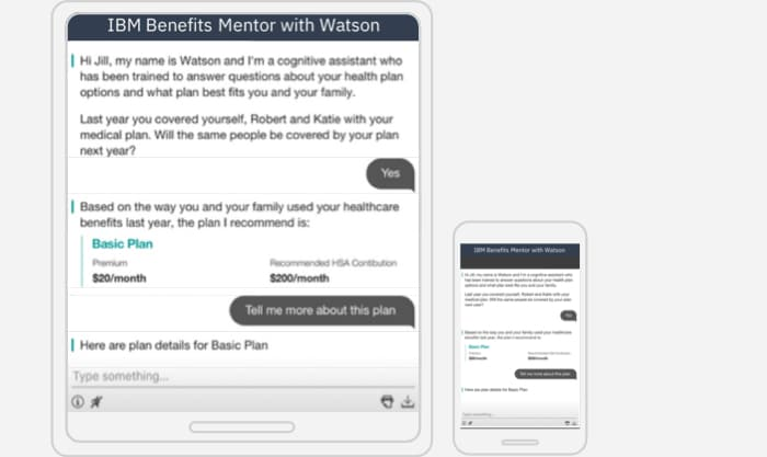 IBM Benefits Mentor with Watson