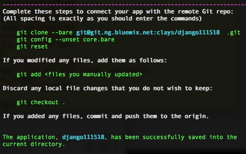 Connecting to an IBM Cloud toolchain and git repository