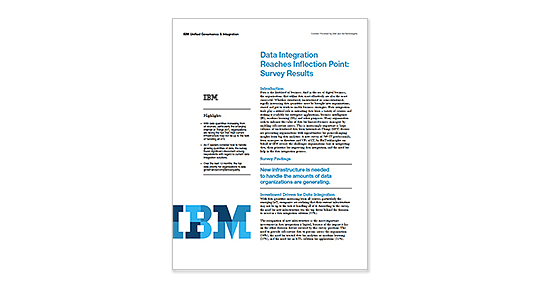 The cover page of the IBM data integration survey