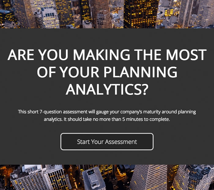 Assessment: Are you making the most of your planning analytics