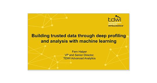 Using machine learning to build trusted data webinar image
