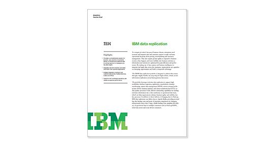 IBM Data Replication brief image