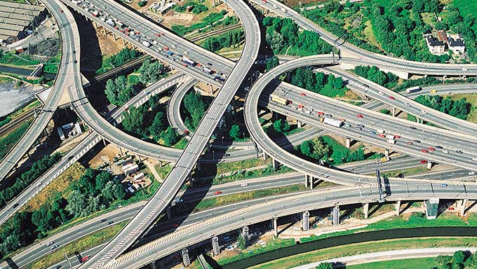 Stack interchange of highways