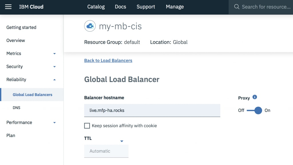 Create a Global Load Balancer and name it