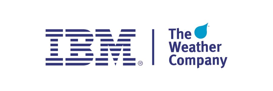 Logotipo de The Weather Channel e IBM