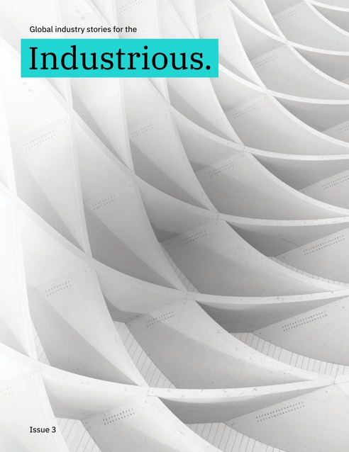 Cover of Industrious issue 3 showing an abstract image