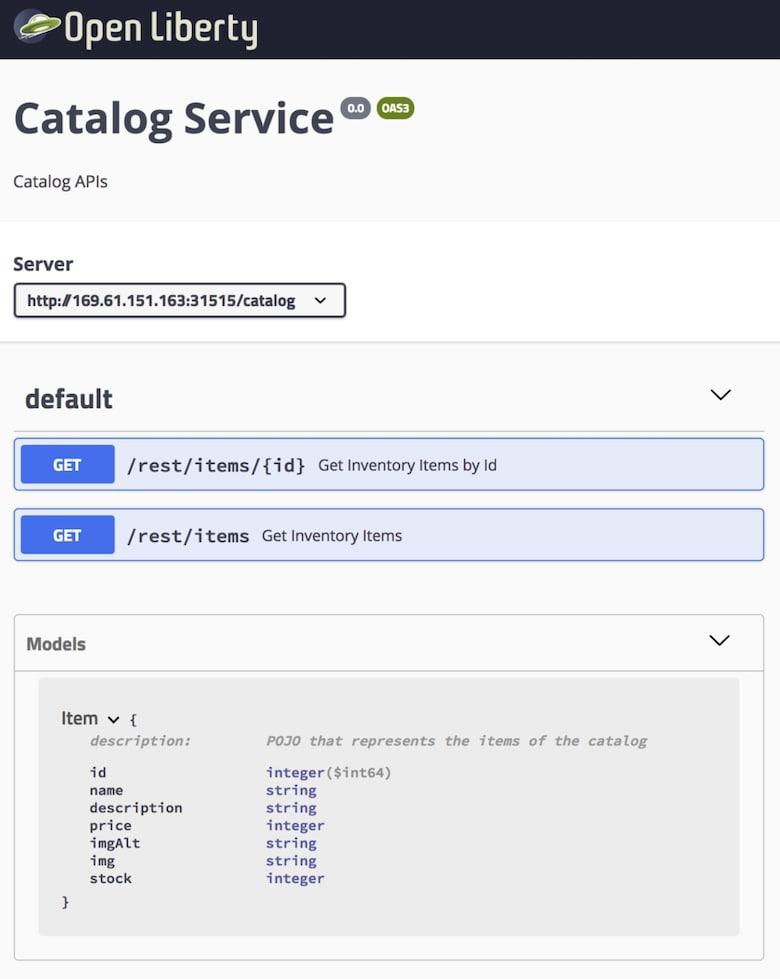 Java Microservices with MicroProfile – API Documentation | IBM
