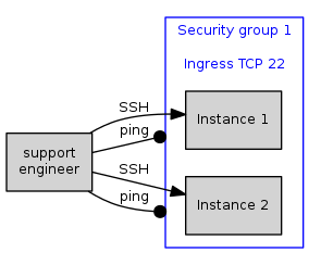 Fig 1. A security group configured to allow incoming SSH