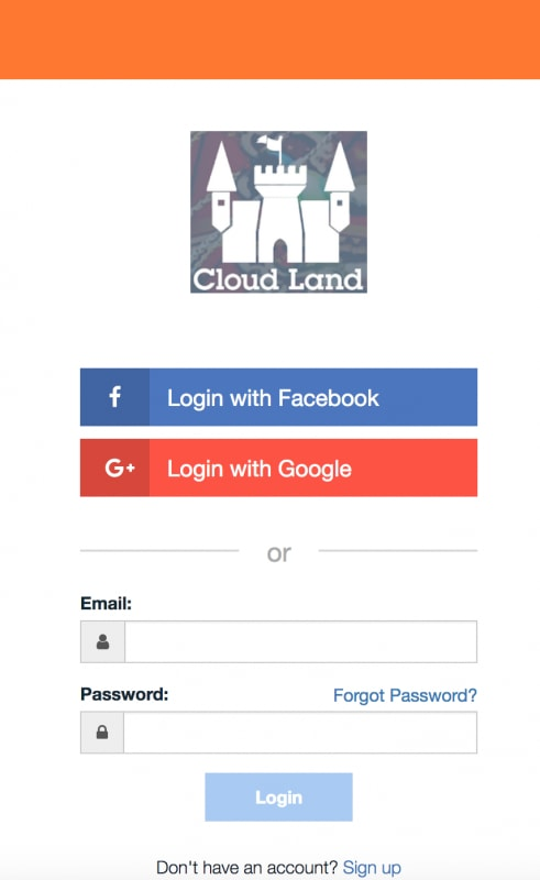 Screen Shot login