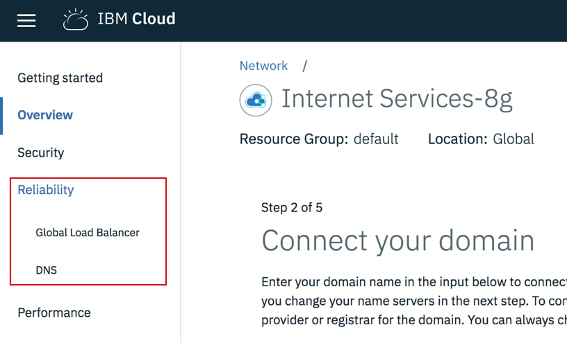 Using IBM Cloud Internet Services for application high
