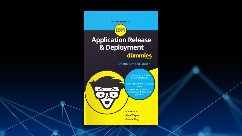 Panneau avant de l'ebook Application Release & Deployment For Dummies