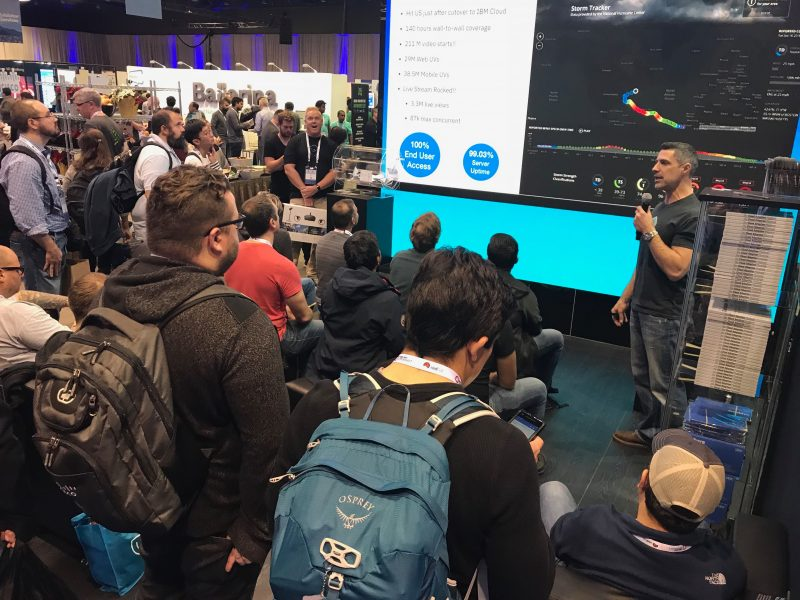 IBM Cloud booth