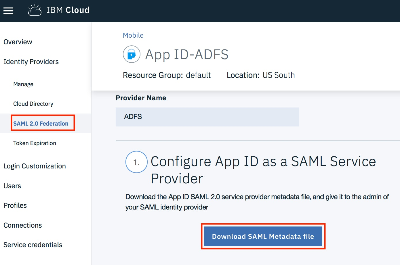 Setting up IBM Cloud App ID with your Active Directory